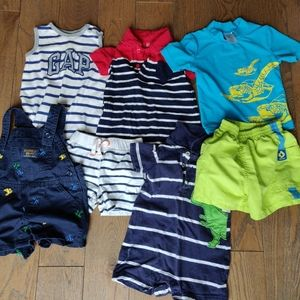 Baby boys summer/vacation clothes bundle